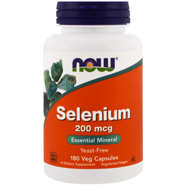 Selenium Селен 200 mcg NOW Foods 180 капсули