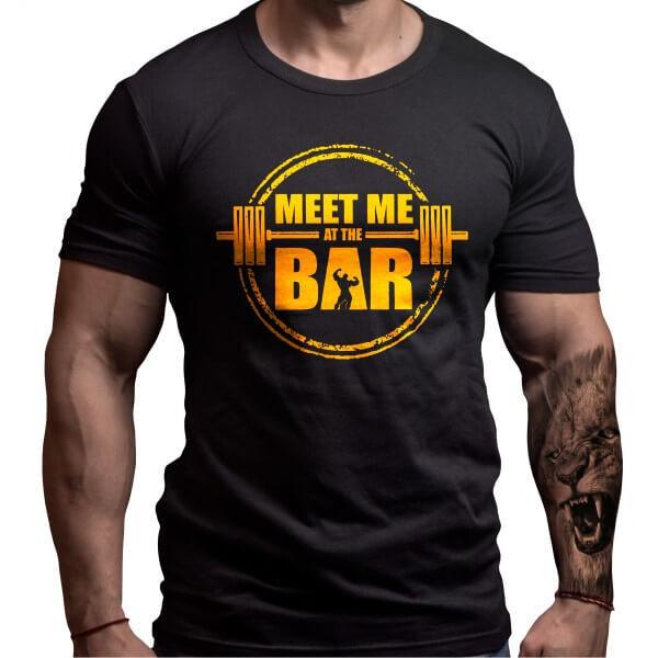 Фитнес Тениска MEET ME AT THE BAR