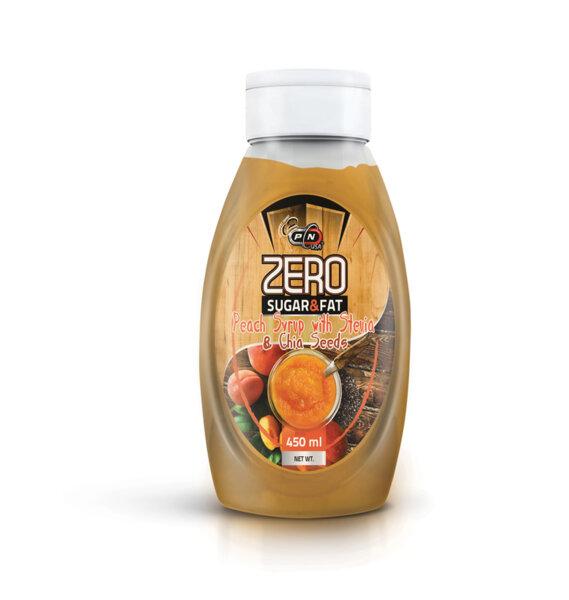 Праскова и Чиа Нискокалоричен Сироп Pure Nutrition 500 ml