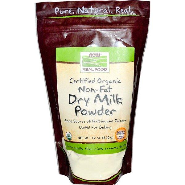 Органично Обезмаслено Сухо Мляко NOW Foods 340 грама