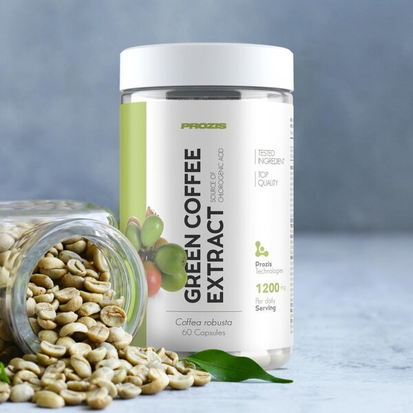 Екстракт от Зелено Кафе Green Coffee Extract 1200 mg Prozis 60 капсули