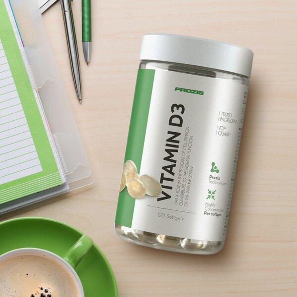 Витамин D3 2000 IU Prozis 120 дражета