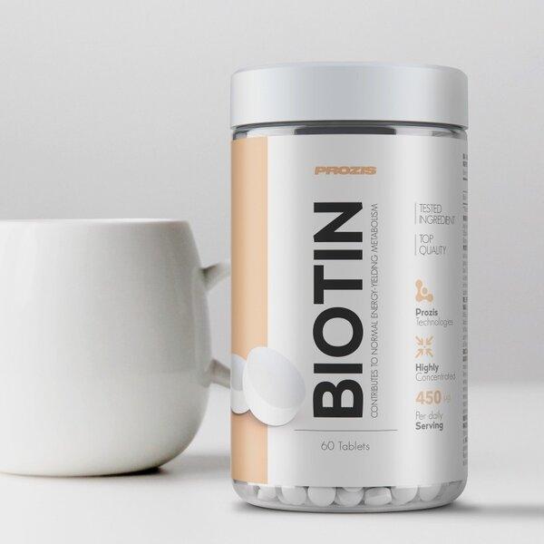 Биотин Витамин B7 Prozis 60 таблетки