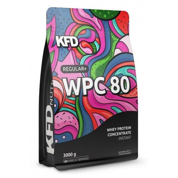 Суроватъчен Протеин Regular+ WPC 80 KFD 3000 грама 100 дози Coconut Cookies