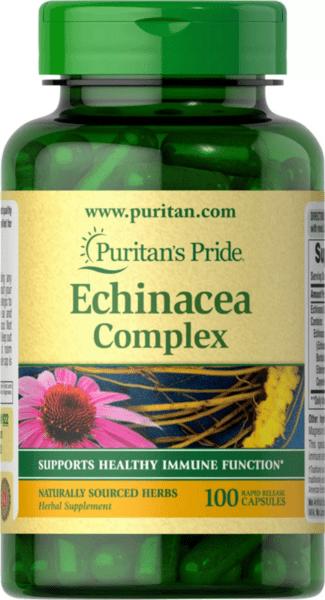 Ехинацея с Бъзак 450 mg Puritans Pride 100 капсули