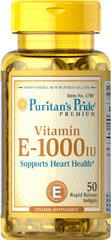Витамин E 1000 IU Puritans Pride 50 дражета