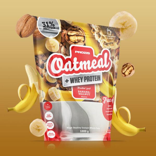 Oatmeal + Whey Овесени ядки + Протеин Prozis 1000 грама
