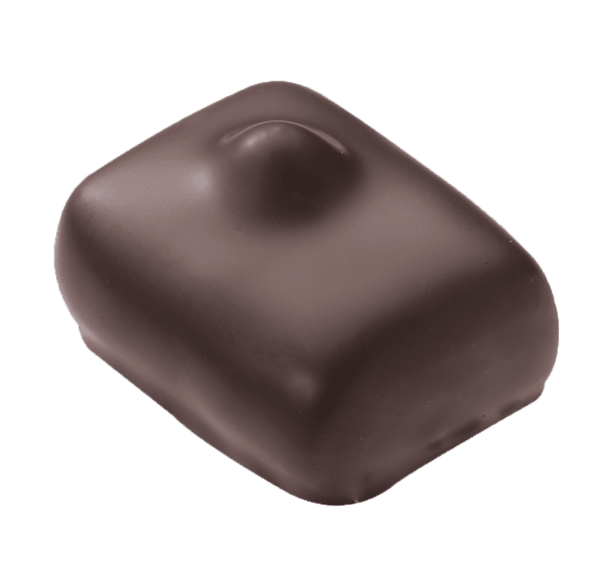 МАНОН КАФЕ - бял, млечен или тъмен шоколад с маслен крем кафе, пралина и цял лешник