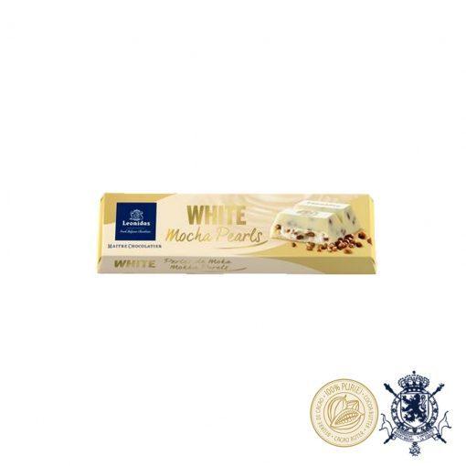 Хрупкави Мока Перли в Бял Шоколад Leonidas 50гр.