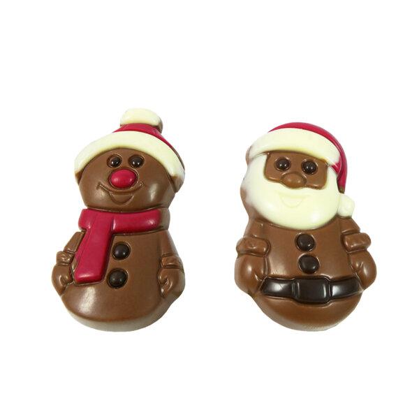 2 Коледни Шоколадови Фигури Leonidas - Дядо Коледа и Снежен Човек 35гр.