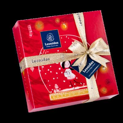 Santiago Двуетажна Коледна Кутия с Шоколадови Бонбони Leonidas (32 бр.)