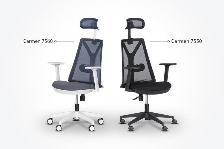 Ергономичният президентски офис стол Carmen 7560 заедно с ергономичния президентски офис стол Carmen 7550