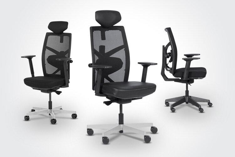 Комбинирайте ергономичния президентски офис стол FREDO LUX с eргономичния президентски офис стол FREDO и eргономичния работен офис стол FREDO E