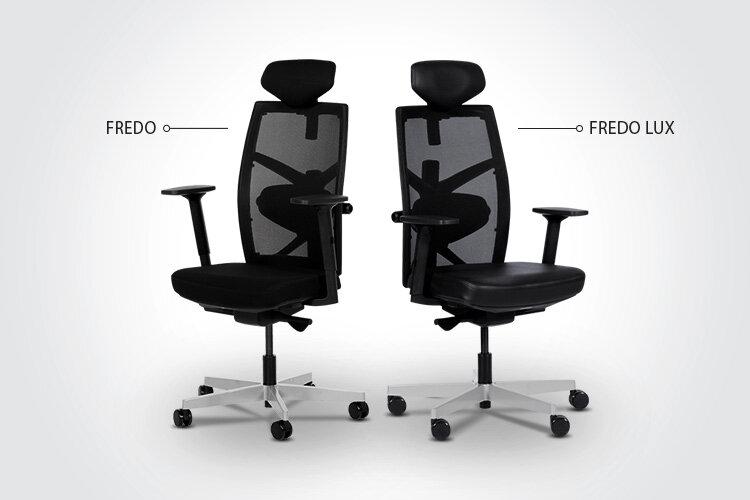 Разлики между ергономичния президентски офис стол FREDO LUX и ергономичния президентски офис стол FREDO