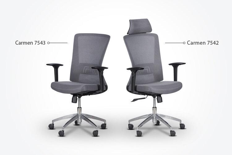 Комбинирайте ергономичния работен офис стол Carmen 7543 с ергономичния президентски офис стол Carmen 7542