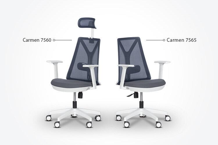 Комбинирайте ергономичния работен офис стол Carmen 7565 с ергономичния президентски офис стол Carmen 7560