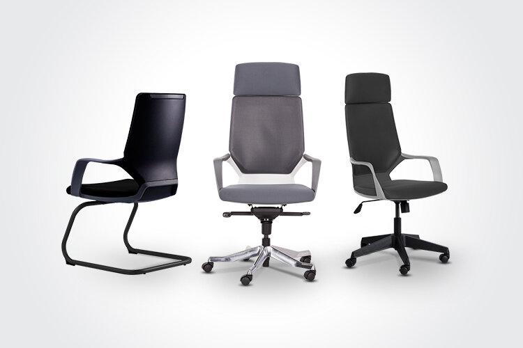Комбинирайте посетителския стол GALA с президентския офис стол GINO и президентския офис стол GINO E