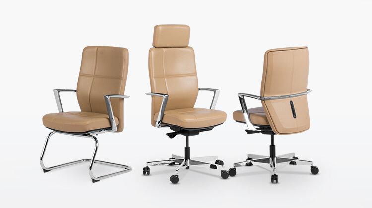 Комбинирайте посетителския стол SIENA с ергономичния президентски офис стол SAHARA и ергономичния работен офис стол SONIA