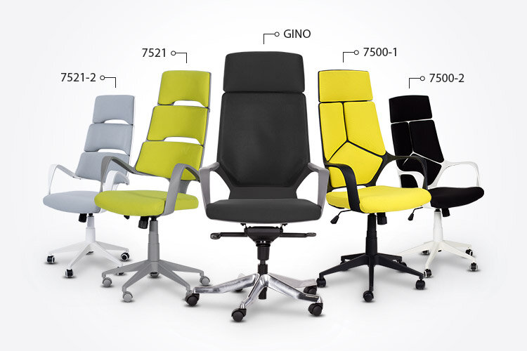 Президентският офис стол Carmen 7500-1 заедно с президентските офис столове GINO, Carmen 7500-2, Carmen 7521 и Carmen 7521-2
