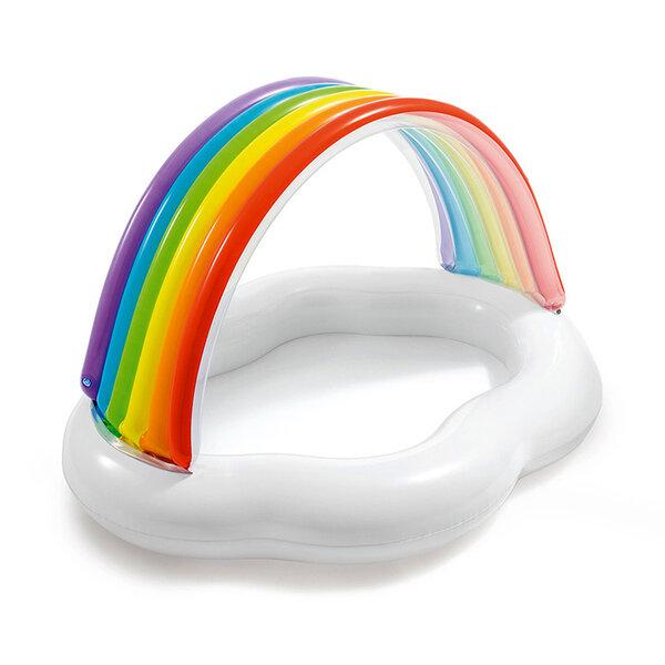 Бебешки надуваем басейн със сенник Intex Rainbow Cloud (Облак с дъга), 142 x 119 x 84 см