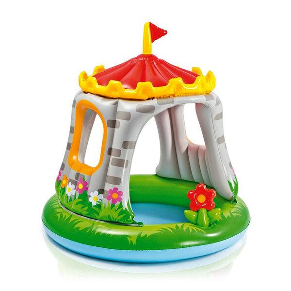 Бебешки надуваем басейн със сенник Intex Royal Castle (Замък), Ø122 x 122 см