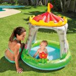 Бебешки надуваем басейн със сенник Intex Rainbow Cloud (Облак с дъга), 142 x 119 x 84 см-Copy