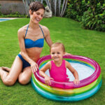 Бебешки надуваем басейн с надуваемо дъно Intex Sunset Glow, Ø86 x 25 см-Copy