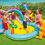 Детски надуваем басейн с водна пръскалка Intex Mystic Unicorn (Еднорог), 272 x 193 x 104 см-Copy