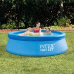 Надуваем басейн (с надуваем ринг) Intex Easy Set, 244 x 76 см