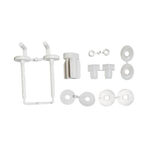 Шарнири за тоалетна седалка и капак HARO B0301Y: пластмасови / гайка бърз фикс / долно фиксиране / двупозиционни