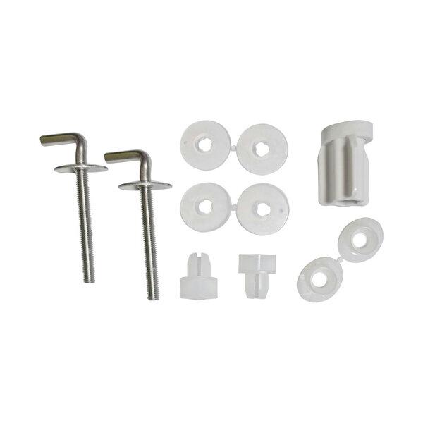 Шарнири за тоалетна седалка и капак HARO B0302Y: неръждаема стомана / гайка бърз фикс / долно фиксиране / двупозиционни