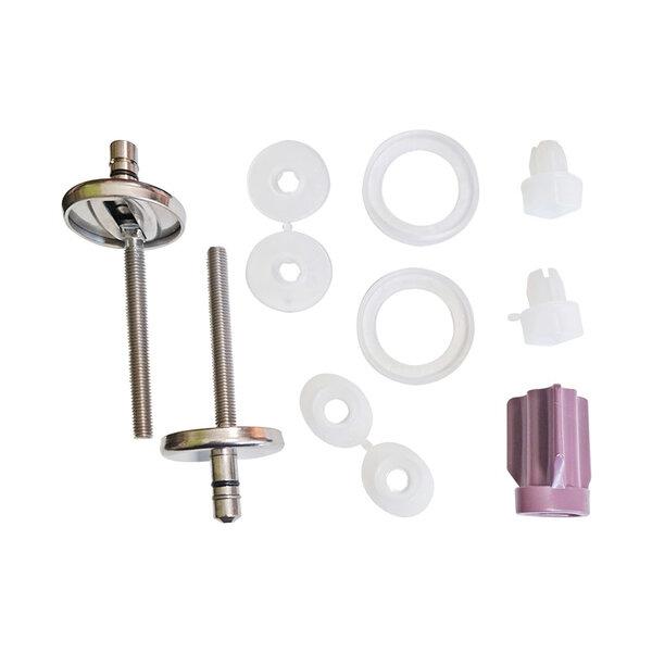 Шарнири за тоалетна седалка и капак HARO C0202Y: неръждаема стомана / гайка бърз фикс / долно фиксиране / ексцентър шарнири / SoftClose® / TakeOff®