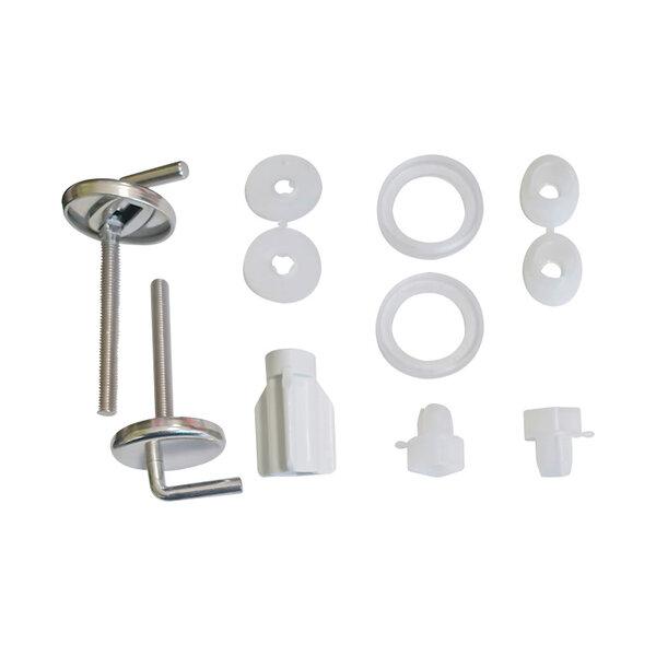 Шарнири за тоалетна седалка и капак HARO E0102Y: неръждаема стомана / гайка бърз фикс / долно фиксиране / ексцентър шарнири