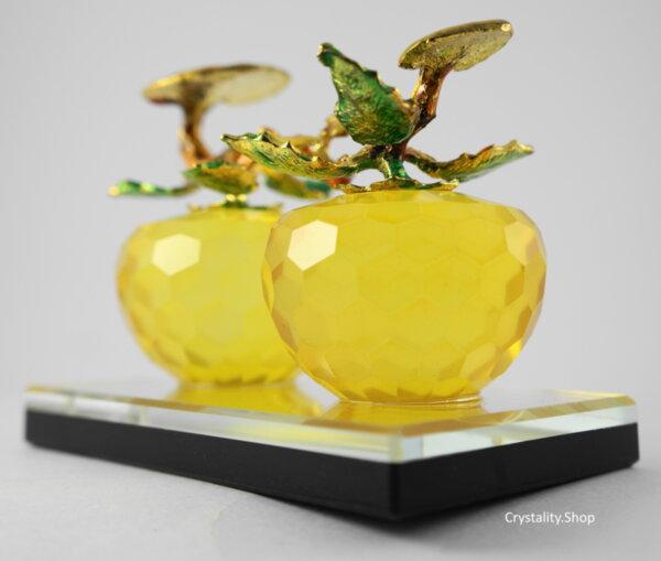 Луксозен кристален ябълков дует, фасетиран