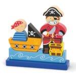 Магнитен 3Д пъзел - Пират, Viga toys