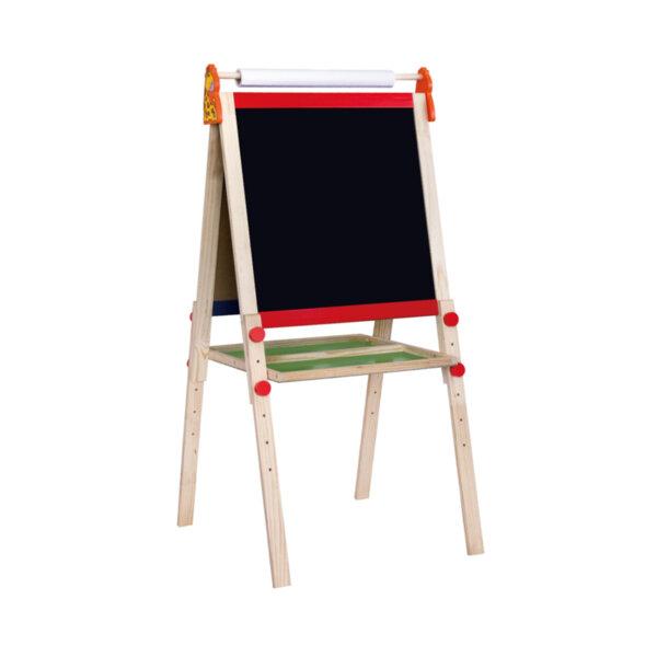 Дървена двустранна магнитна дъска със стойка, Viga Toys
