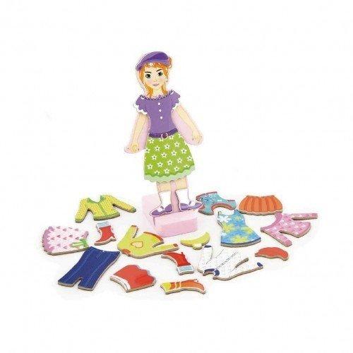 Магнитна кукла за обличане - Момиче