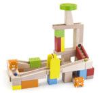 Дървен конструктор писта с топче, Viga Toys