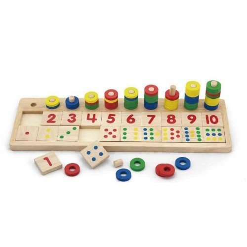 Игра за броене и смятане с рингове, Viga toys