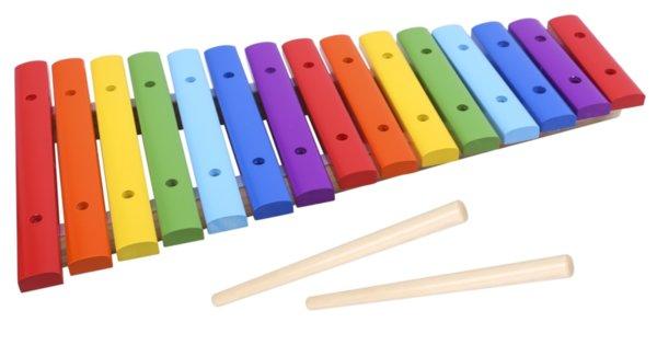 Ксилофон с 15 дървени пластини, Tooky toy