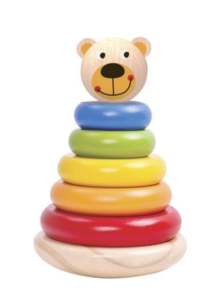 Дървена кула за нанизване - Мечка, Tooky Toy
