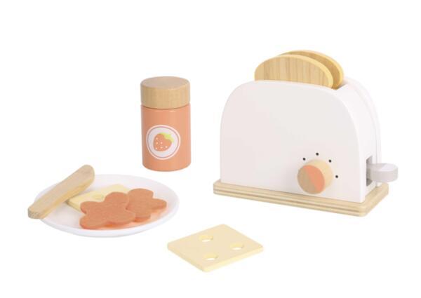 Комплект дървен тостер за хляб, Tooky Toy