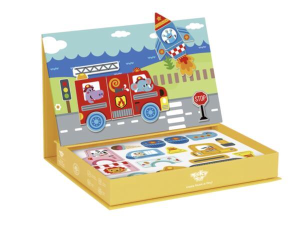 Магнитна образователна кутия игра - Транспорт, Tooky Toy