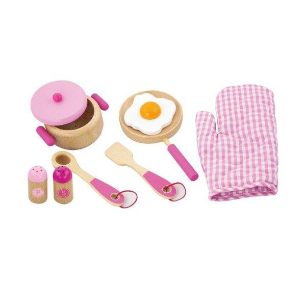 Розов комплект за готвене