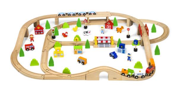 Дървен влак 90 части, Viga toys