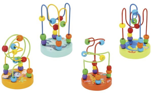 Спирала с цветни топчета за фина моторика, Tooky toy