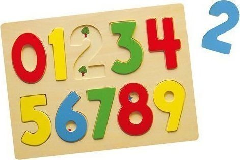 Дървен пъзел с цифри, Viga toys