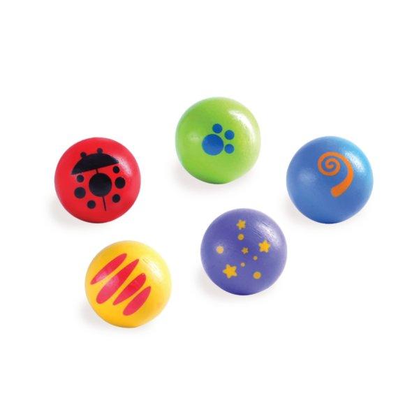 Дървени топчета с декорация