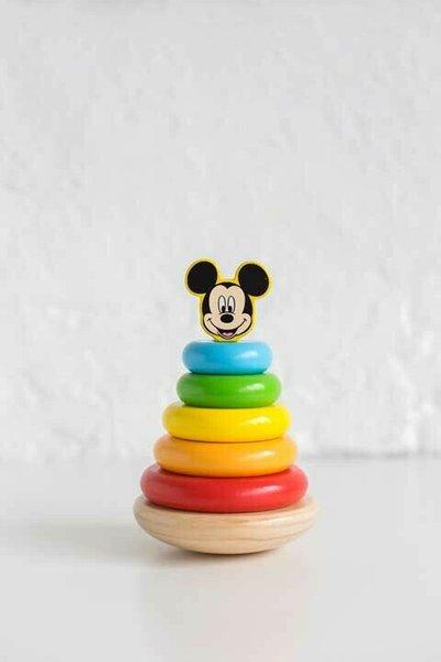 Disney Мики Маус Дървена кула за нанизване