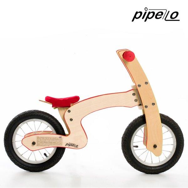 """Дървено колело за баланс модел """"Z'' - червено"""